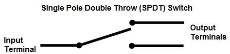SPDT (single pole double throw)