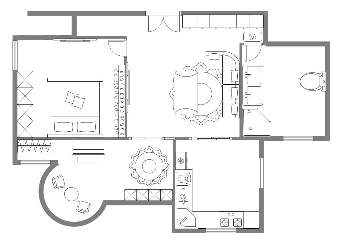 2-Bedroom House Plan