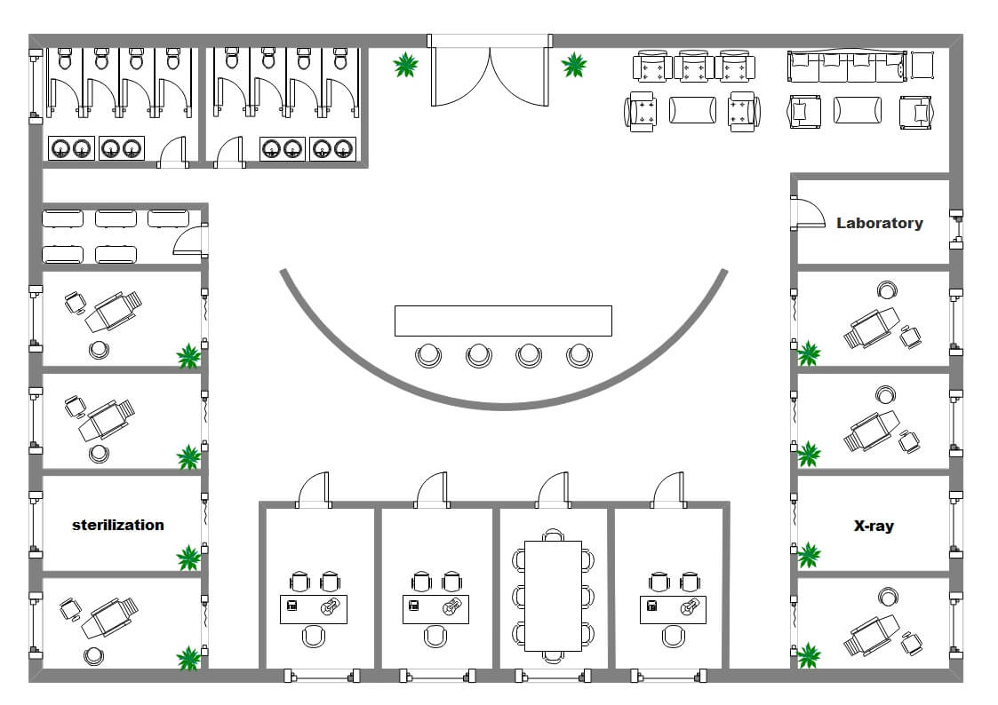 Dentist Shop Office Plan