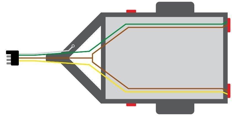 4-pin trailer wiring diagram