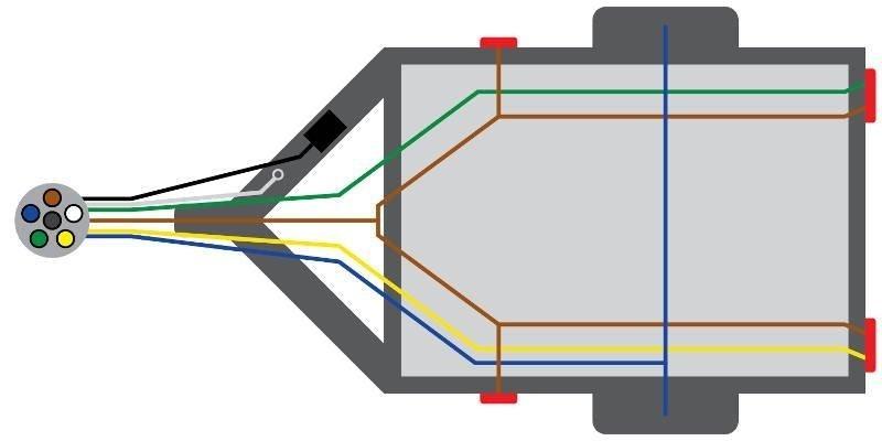 6-pin trailer wiring diagram