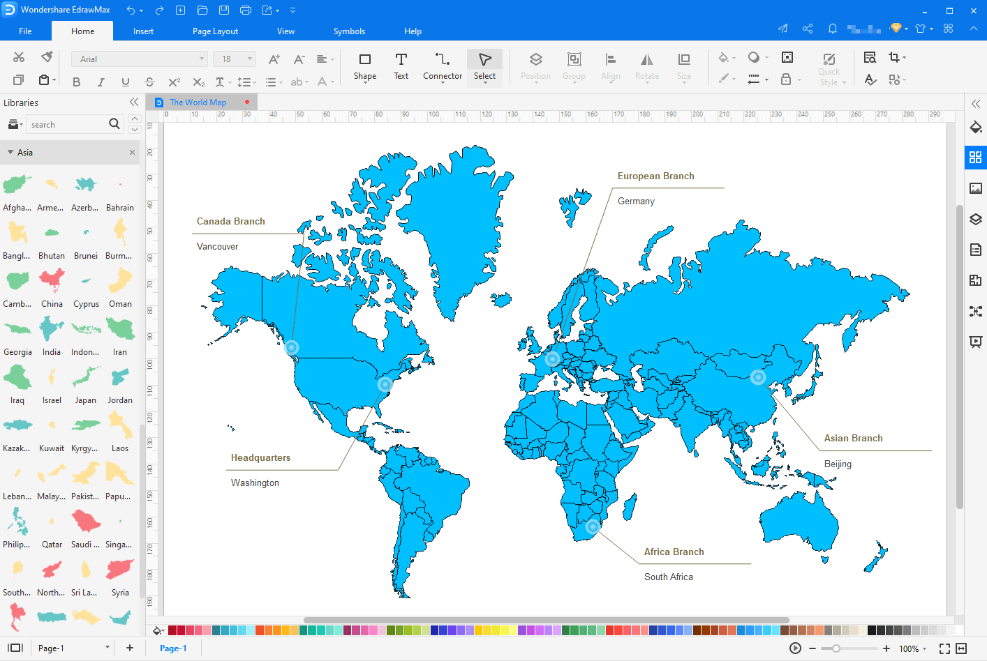 make map with EdrawMax