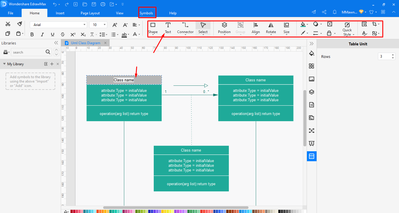 Designing and editing your diagram