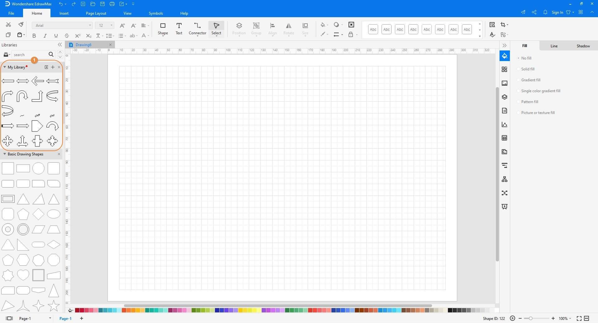 import the VSSX Visio Stencil to EdrawMax