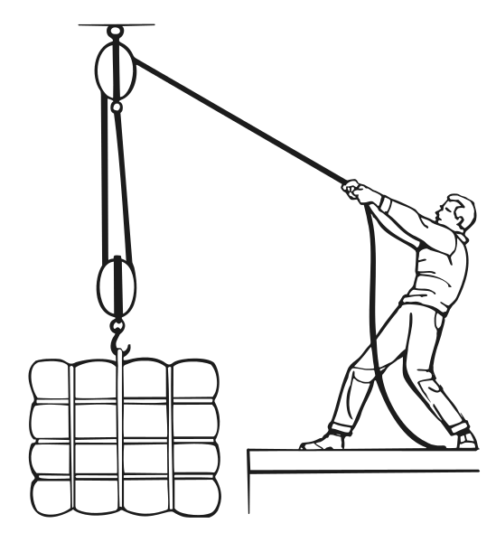 block and tackle in use