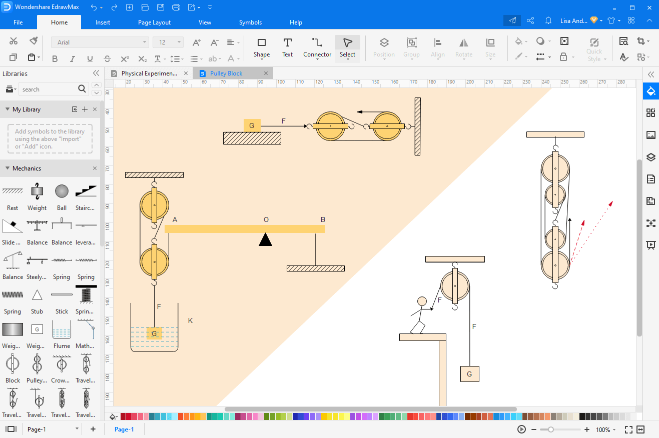 Make Block and Tackle Rigging Diagram in EdrawMax