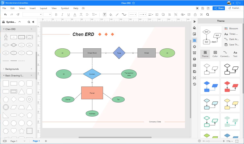 create EER Diagram in EdrawMax