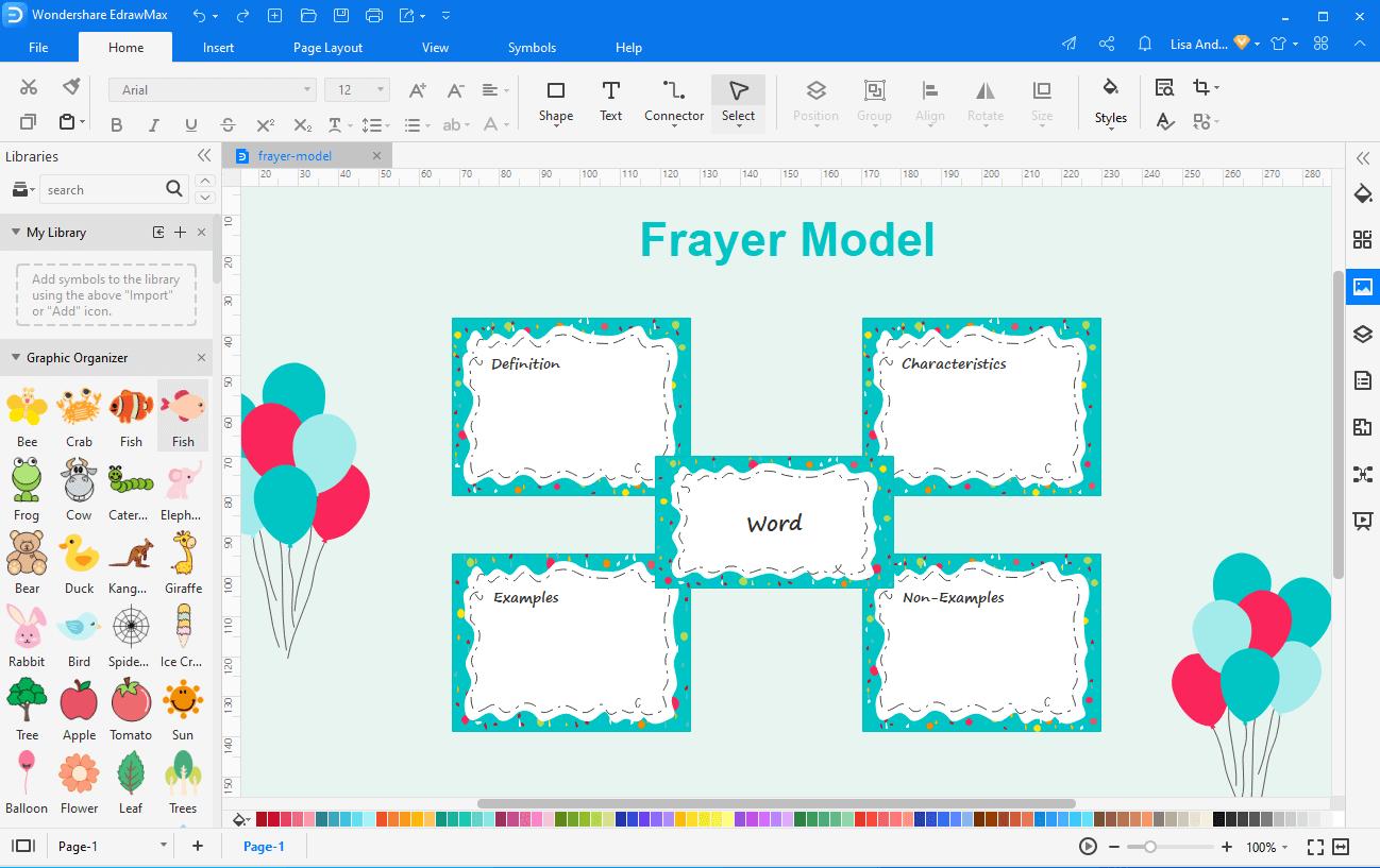 Make a Frayer model in EdrawMax