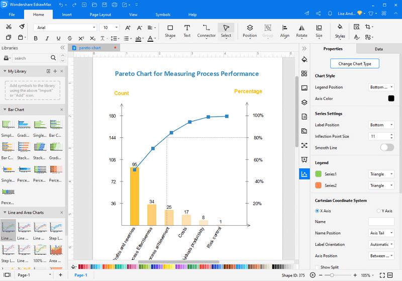Make Pareto Chart in EdrawMax