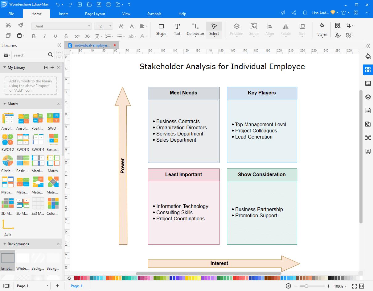 make stakeholder map in EdrawMax