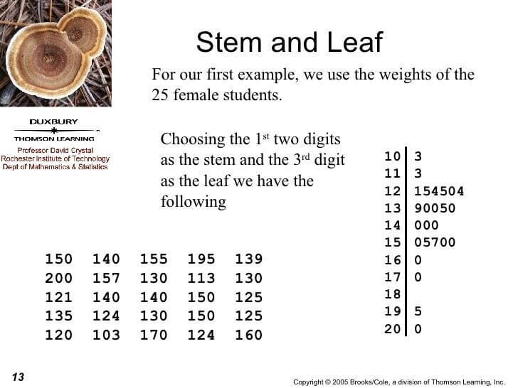 Stem and Leaf Plots with Hundreds