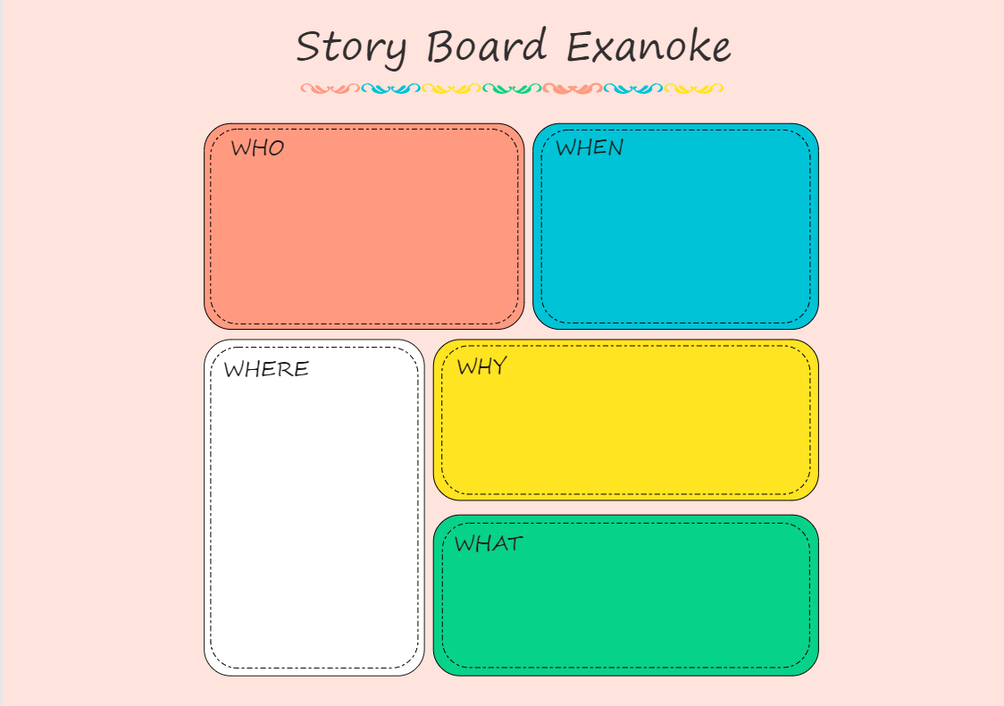 5Ws Storyboard