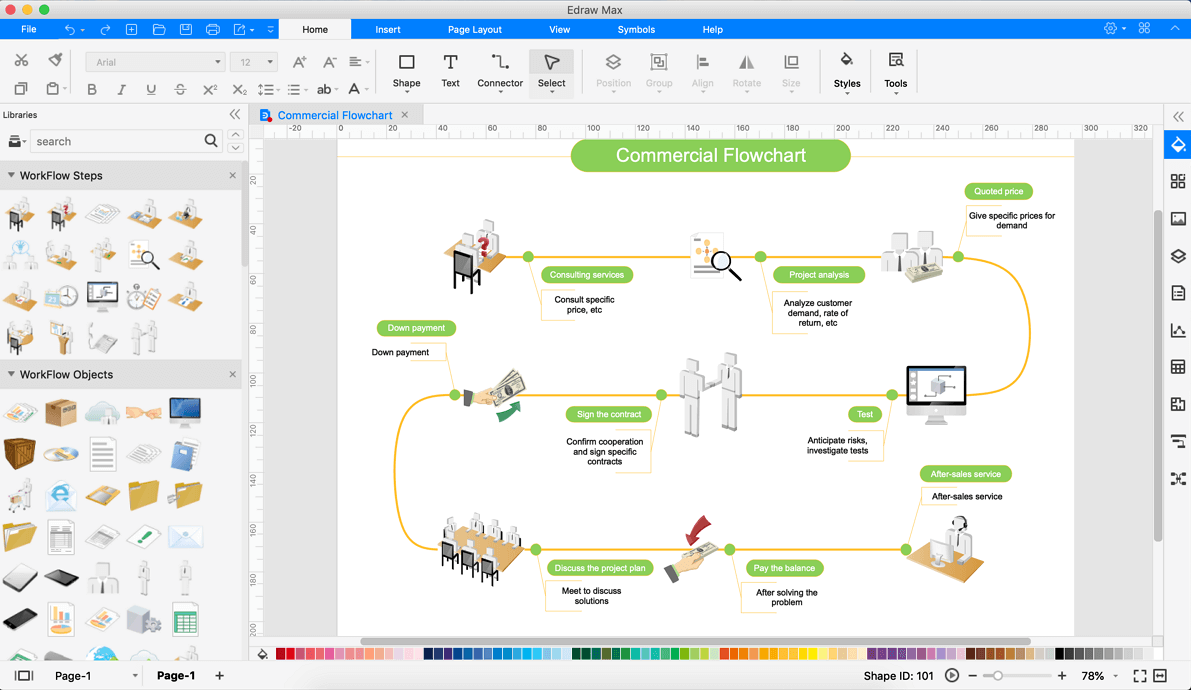Workflow Diagram Desktop Program