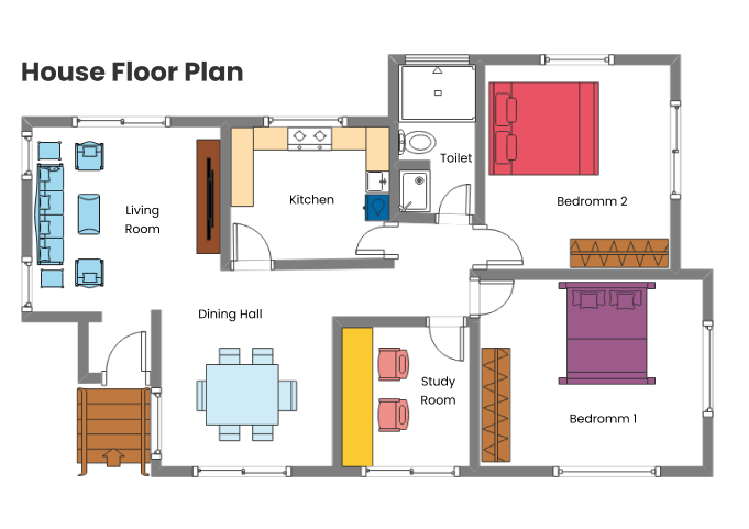 house floor plan example