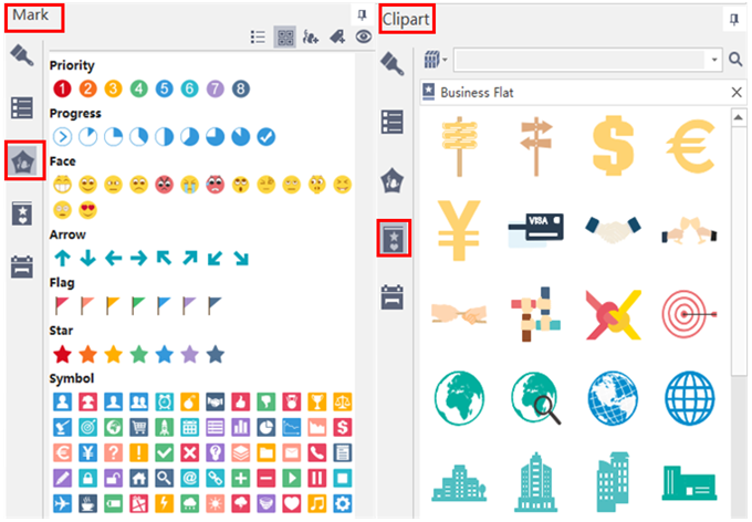 marks and clipart of mindmaster