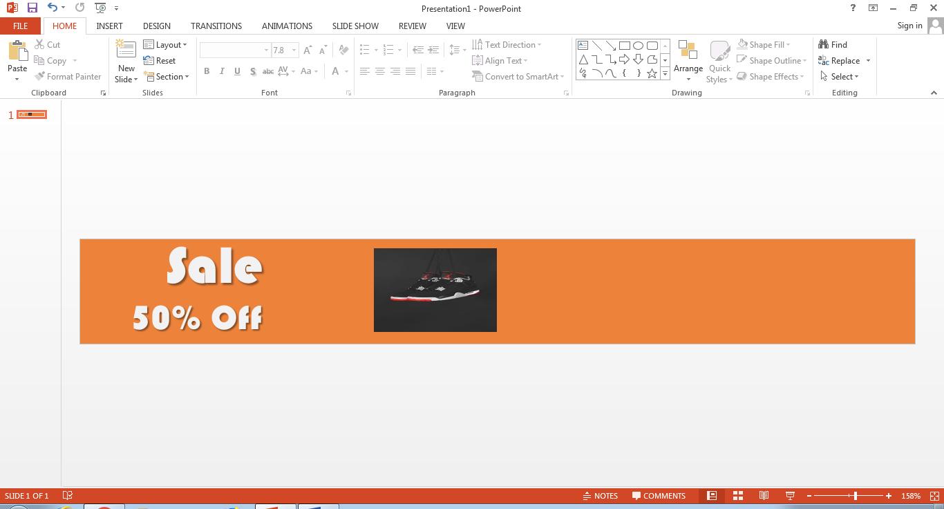 créer une bannière dans powerpoint