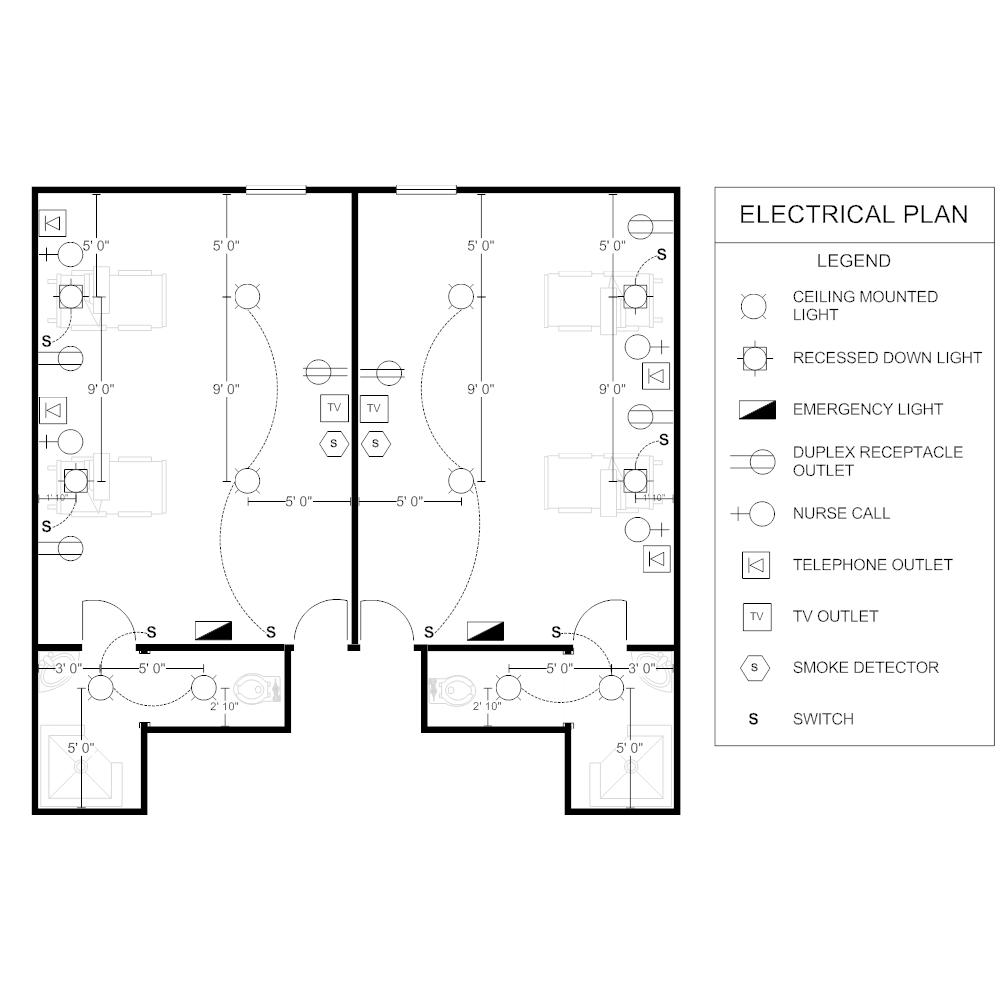Plan Électrique chambre patient