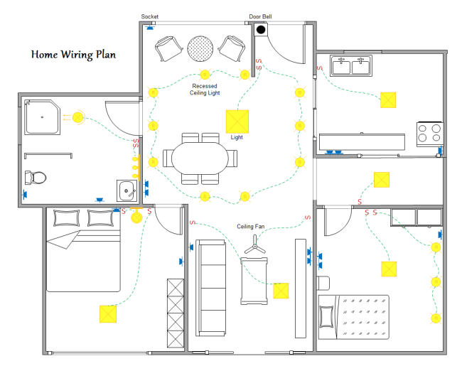 plan cablage maison