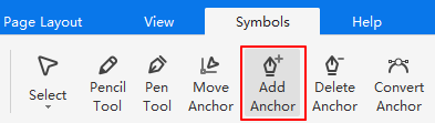 add anchor button