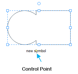 add text with control point
