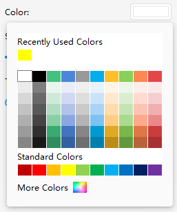 choose color menu