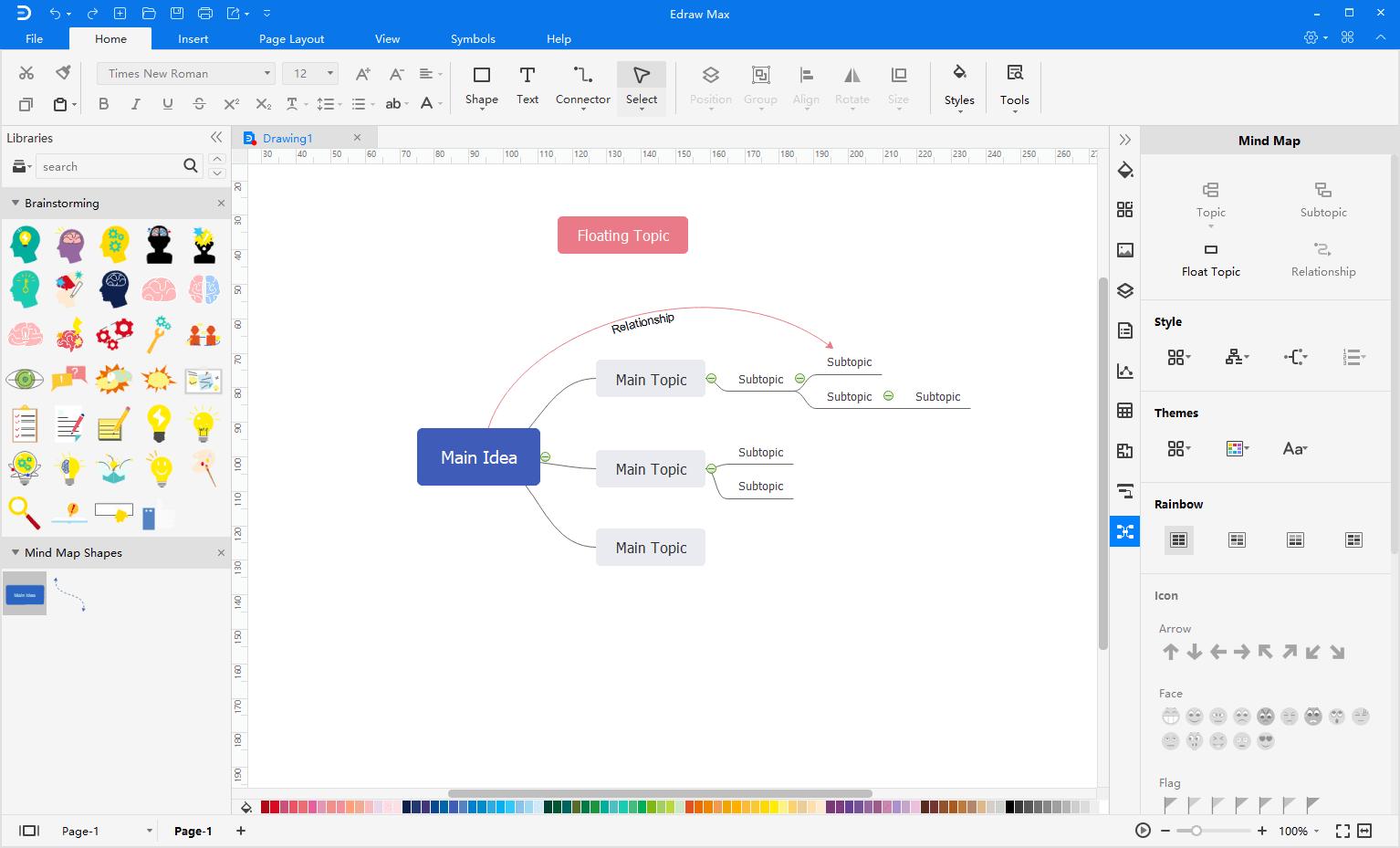 create mind map from scratch