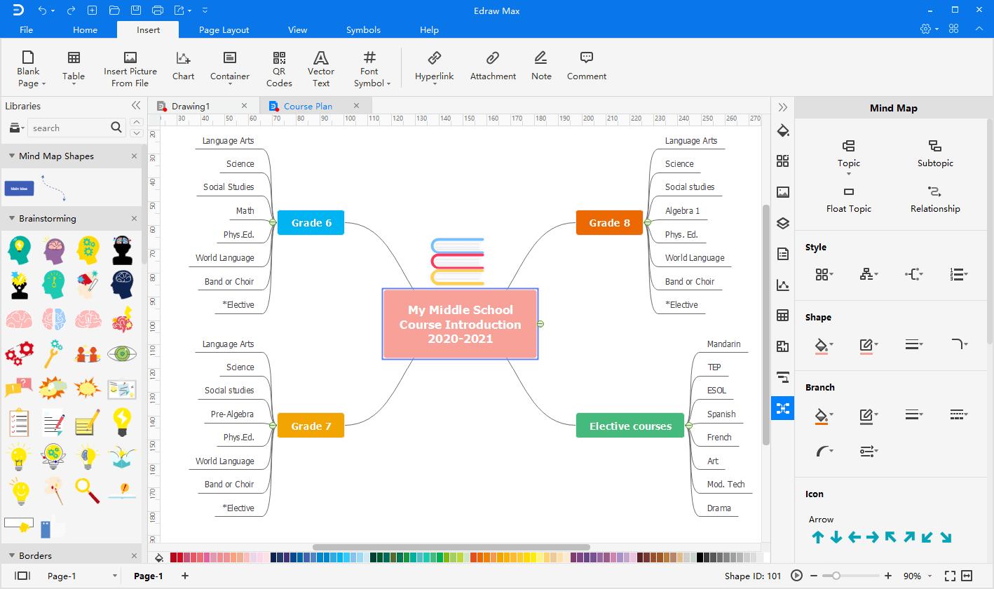 create mind map