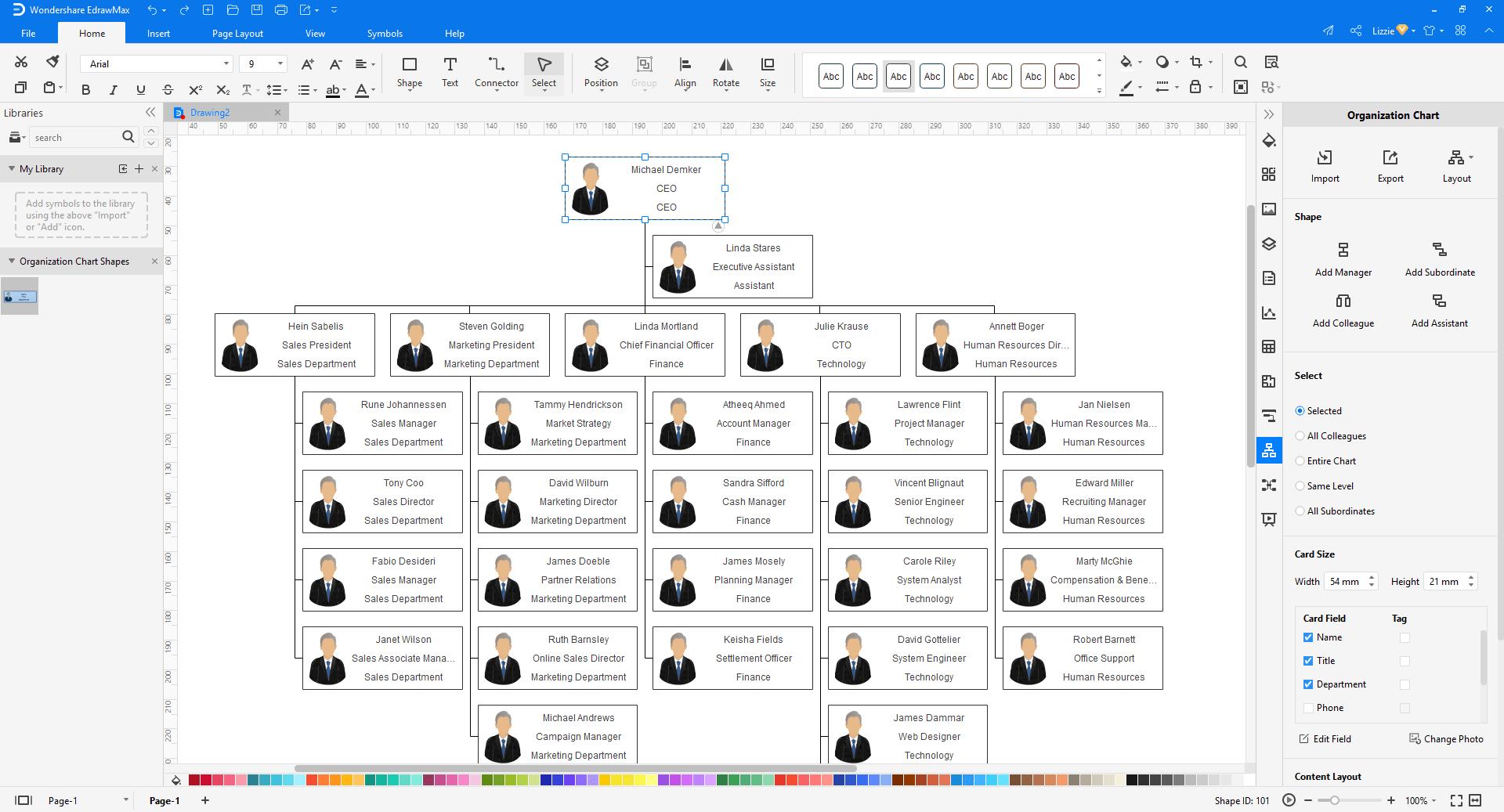 create org chart