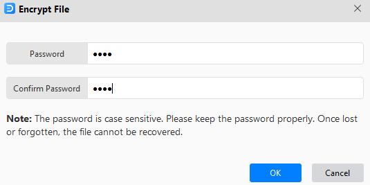 encrypt file window