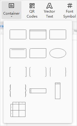 insert container menu