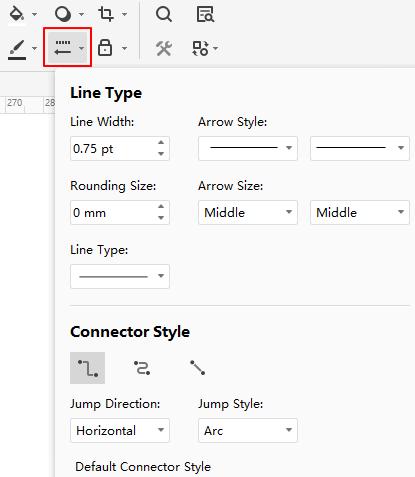 line style menu
