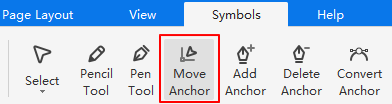 move anchor button