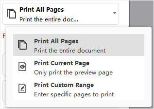 print page choice