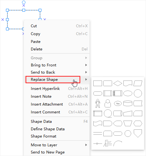 replace shape option