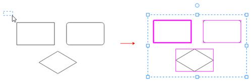 select multiple shapes