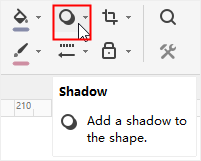 shadow button on home tab