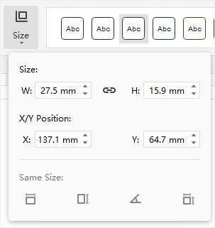size option menu