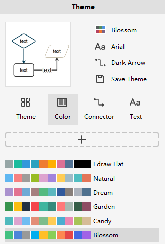 theme color pane rightside