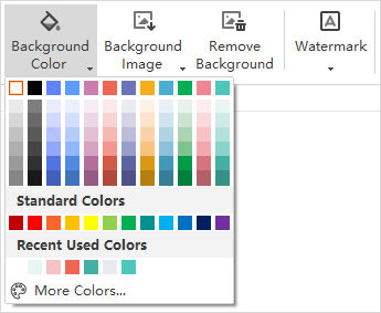 background color button