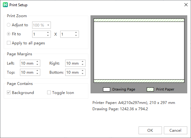 print setup window