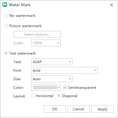 watermark window