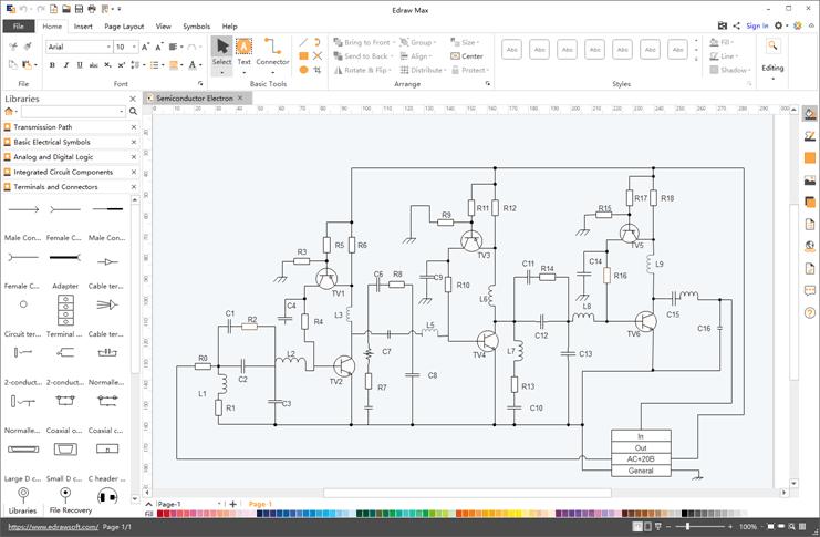 Software de diagramas esquemáticos