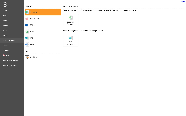 export graphic organizer