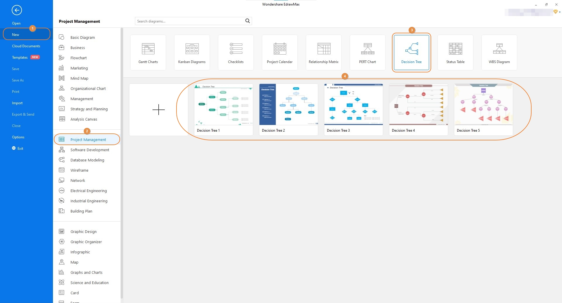 select decision tree template