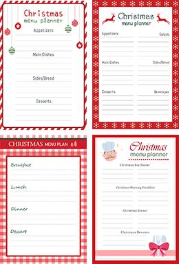 Christmas menu planner