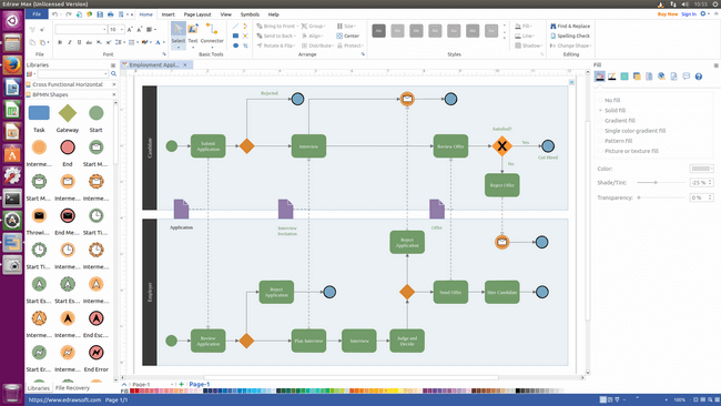 design flowchart with edraw max