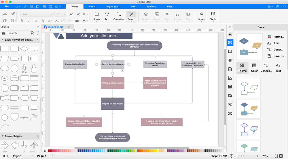 design flowchart with edrawmax