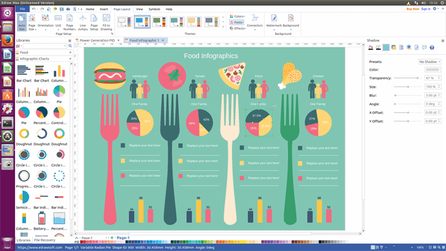 design infographics with edraw max