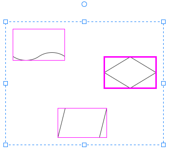 select to align shapes