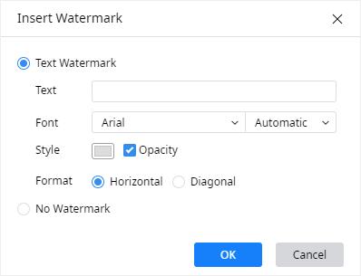 insert watermark window